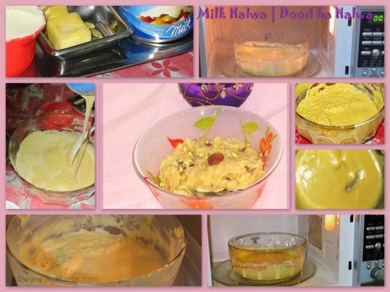 Milk Halwa   Dood ka Halwa using Microwave - Ingredients