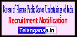 BPPI Bureau of Pharma Public Sector Undertakings of India Recruitment Notification 2017 Last Date 30-04-2017