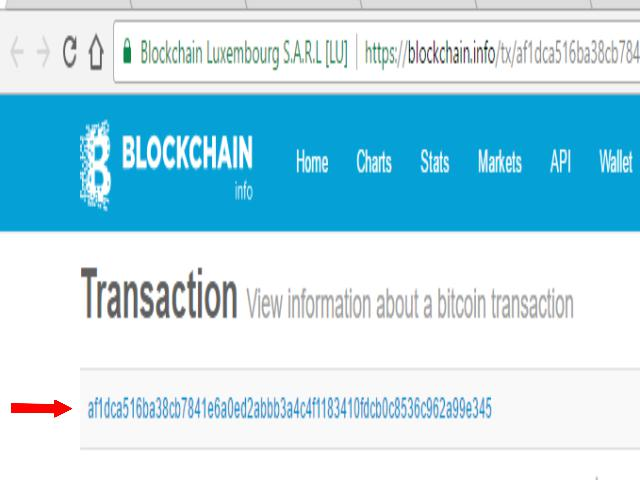 How to get transaction hash id on blockchain transaction hash id can be found as shown above bitcoin blockchain btc hash id how to get ccuart Gallery