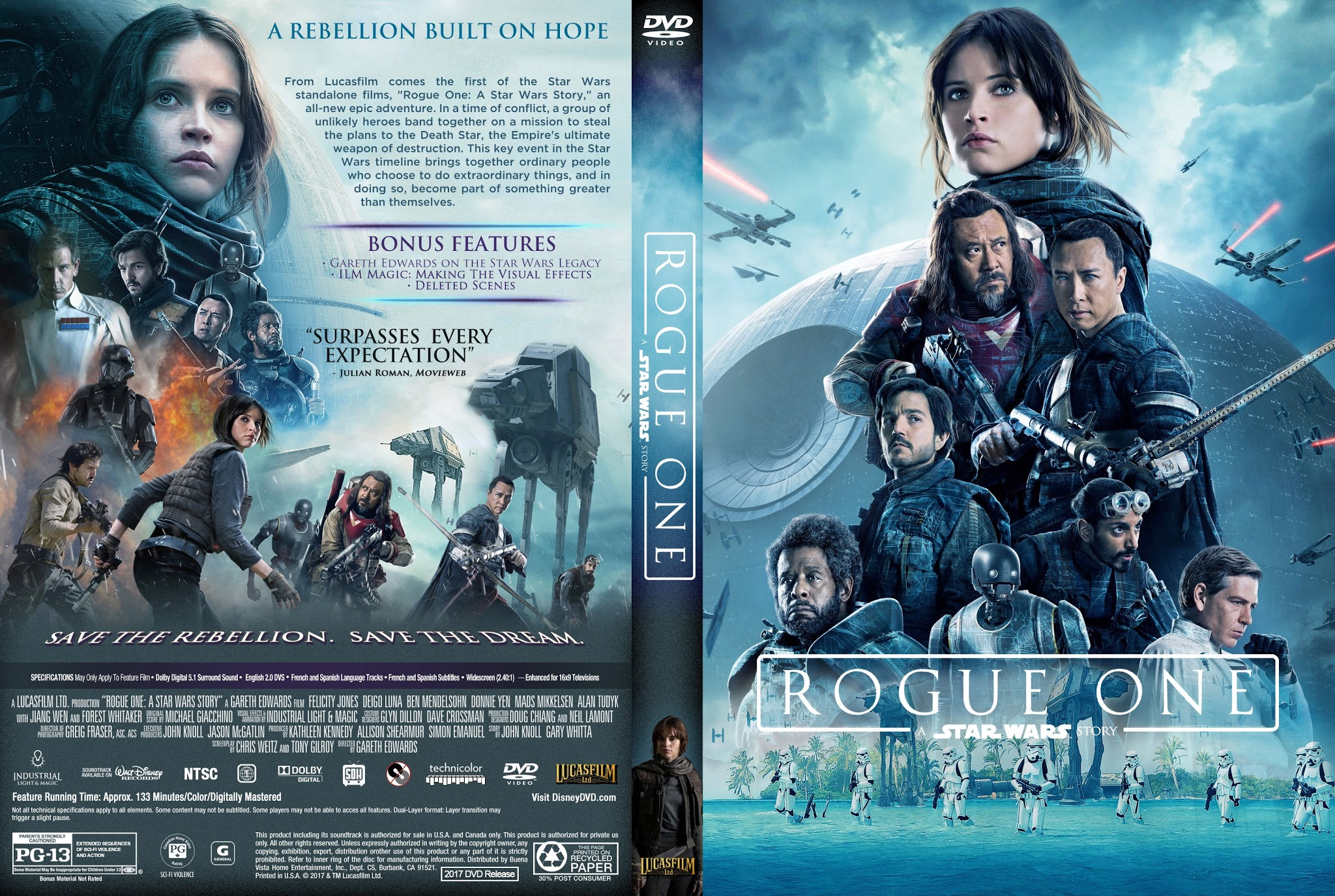 Star Wars Rogue One Dvd