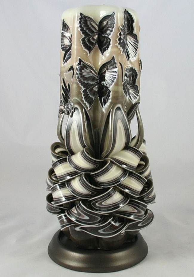 Amazing hand carved candles desert illusion