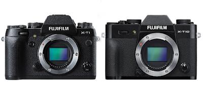 Perbandingan Fuji X-T1 dan Fuji X-T10, tampilannya sangat mirip