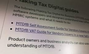 UK tax authorities Make Tax Digital, whether businesses want it or not