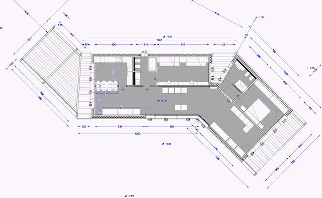 Planimetria spazi interni casa per 4 persone