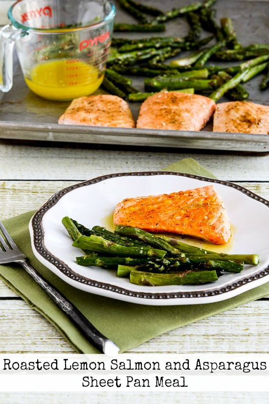 Roasted Lemon Salmon and Asparagus Sheet Pan Meal