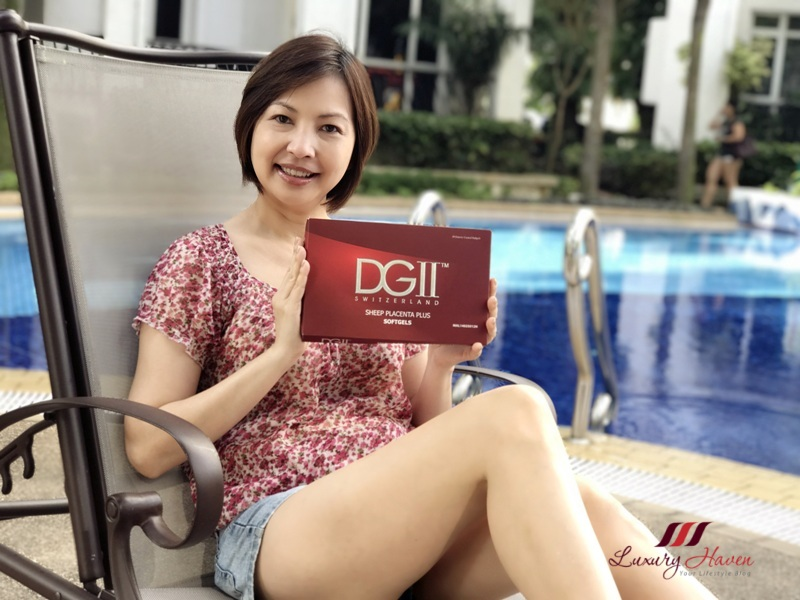 singapore beauty influencer reviews dgii sheep placenta softgels