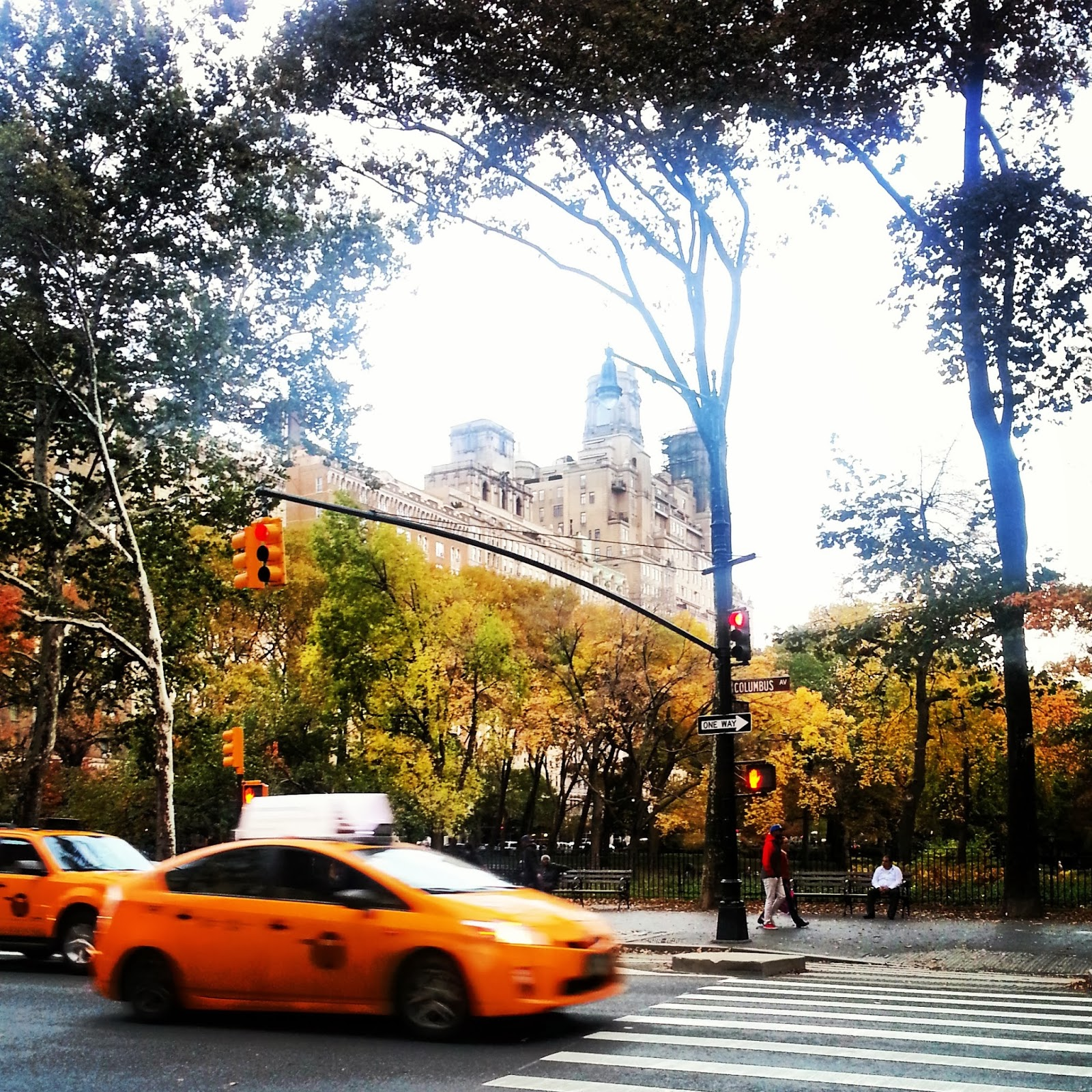 Upper West Side (UWS) + American Museum of Natural History |  The rosy glow of an autumn dusk  |  http://afeatherynest.blogspot.com