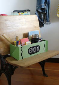 back to school gift made from pallet wood