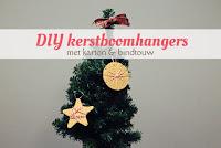 DIY kerstboomhangers - met karton en bindtouw