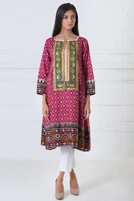 Khaadi embroidered lawn kurti dresses collection