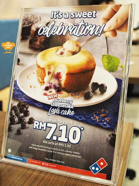 Dominoes Blueberry Cheesecake Lava Cake Promotion Price