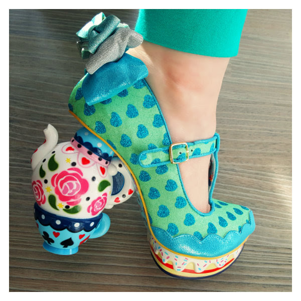 wearing irregular choice alice my cup of tea blue