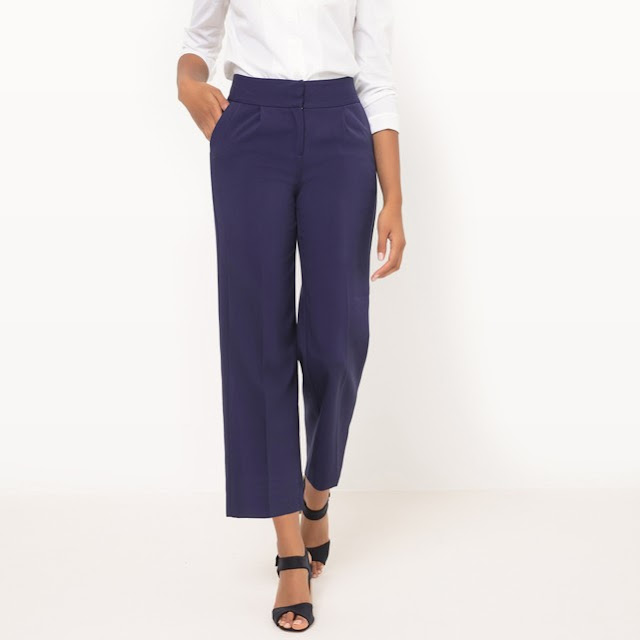 ladies wide leg cropped trousers