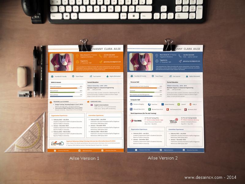 Contoh CV Profesional dan Kreatif