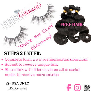 "FREE HAIR | 💖""Share The Glam"" GIVEAWAY!!💖 END 3-10"