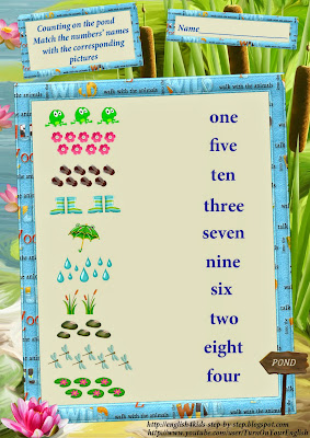 English numbers together with counting worksheet