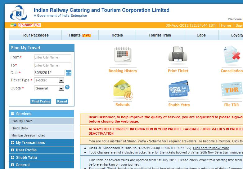 sign in irctc