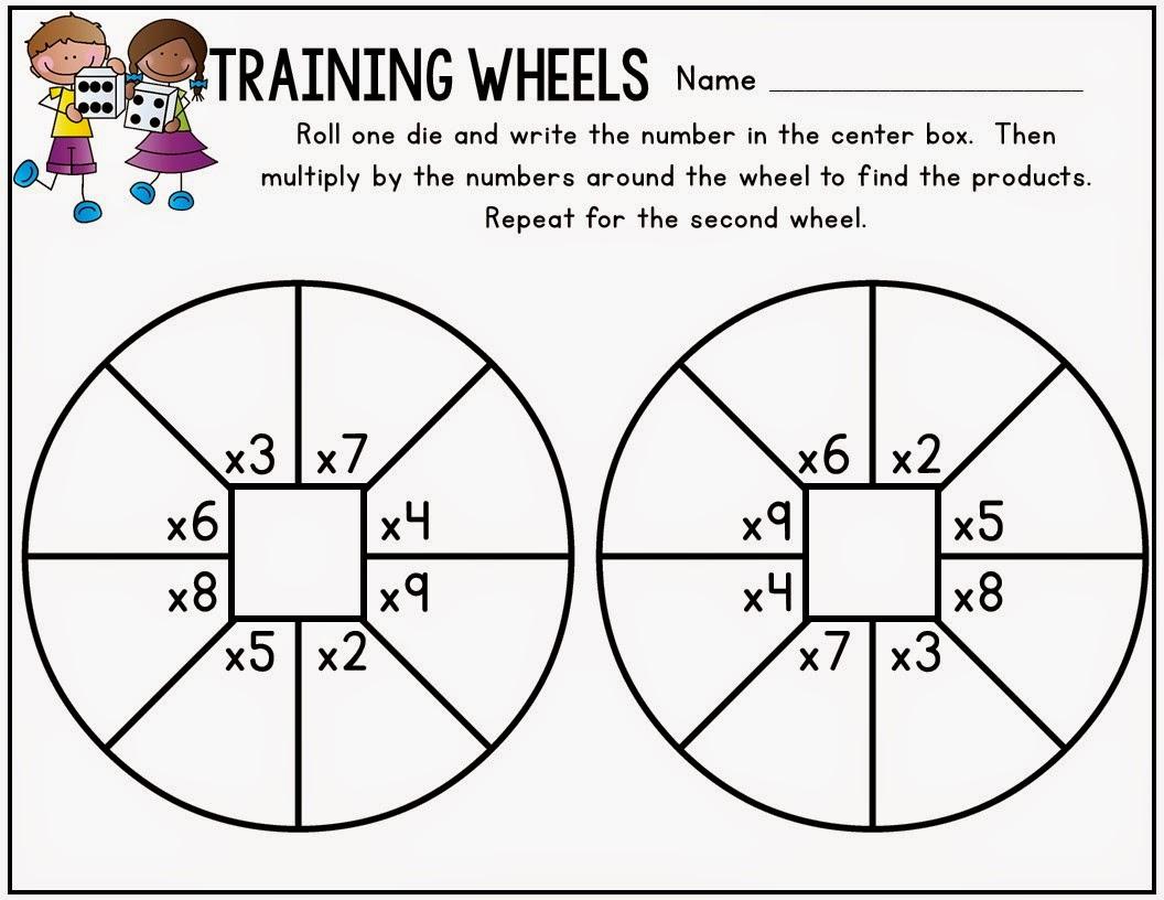 Training Wheels Multiplication Freebie
