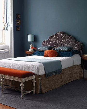 I Love This Room And The Warm Muted Shades Of Blue Orange Add In Tan You Have Perfection