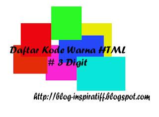 Daftar Lengkap Kode Warna HTML 3 Digit