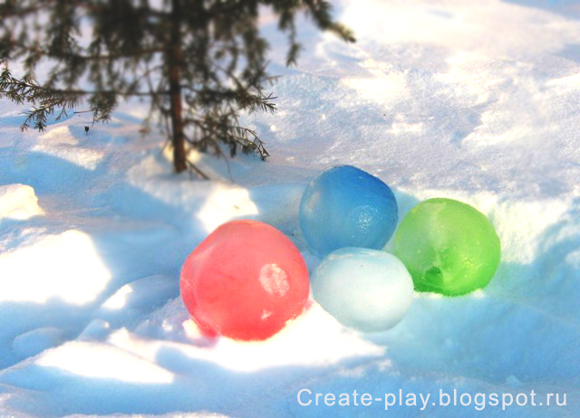 Ice colored balls