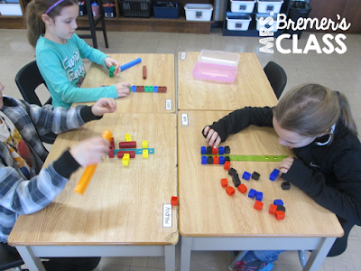 We started our fractions unit by learning about symmetry and lines of symmetry. Here's an activity that helped students learn it in a very hands-on, visual way!