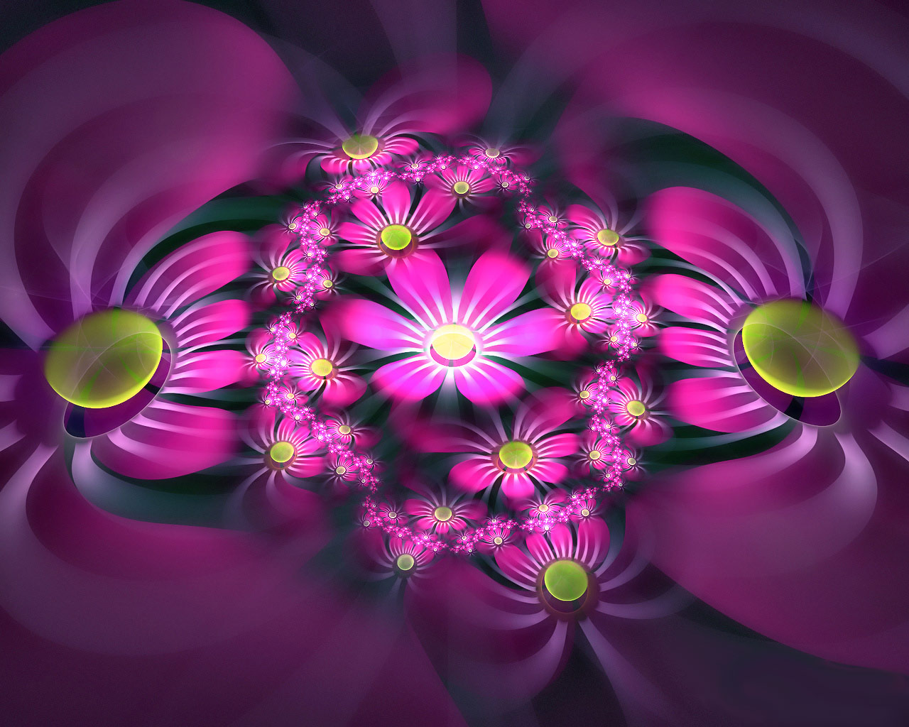 top fractal wallpapers floral - photo #19
