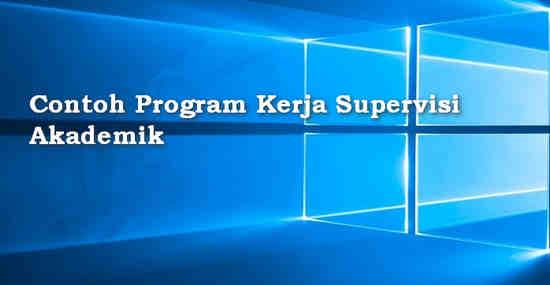 Contoh Program Kerja Supervisi Akademik