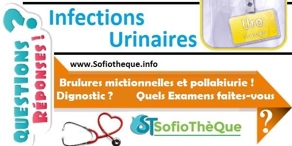 QR | brulures mictionnelles et pollakiurie ! Dignostic ? Signes importants ? Quels Examens ?