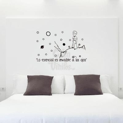vinilo decorativo para pared, principito, frase, infantiles, dormitorio
