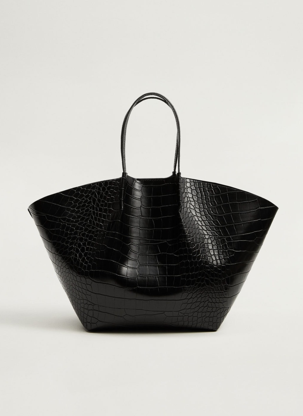We're Crushing on This $60 Croc-Effect Tote Bag
