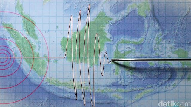 Gempa Magnitudo 3,5 Terjadi di Tanah Datar Sumbar