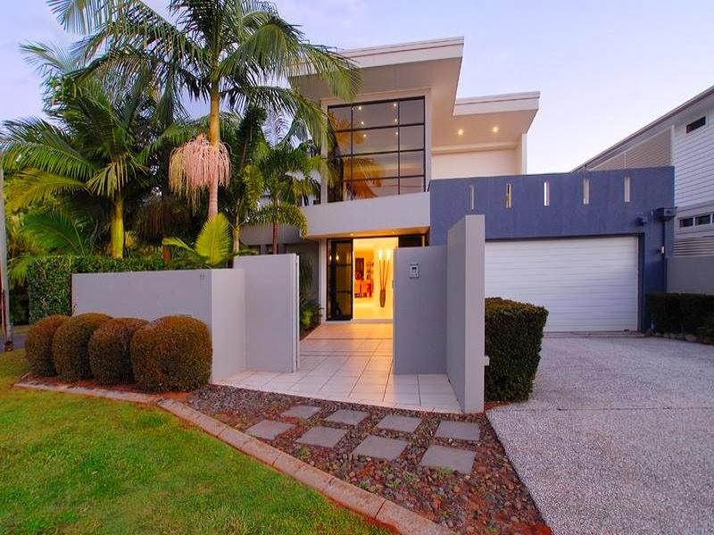 Hogares frescos 10 fachadas de casas modernas c lidas e for Casas residenciales minimalistas
