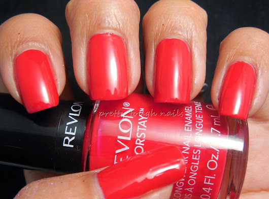 Revlon Colorstay Red Carpet Review With Dotticure Nail Art