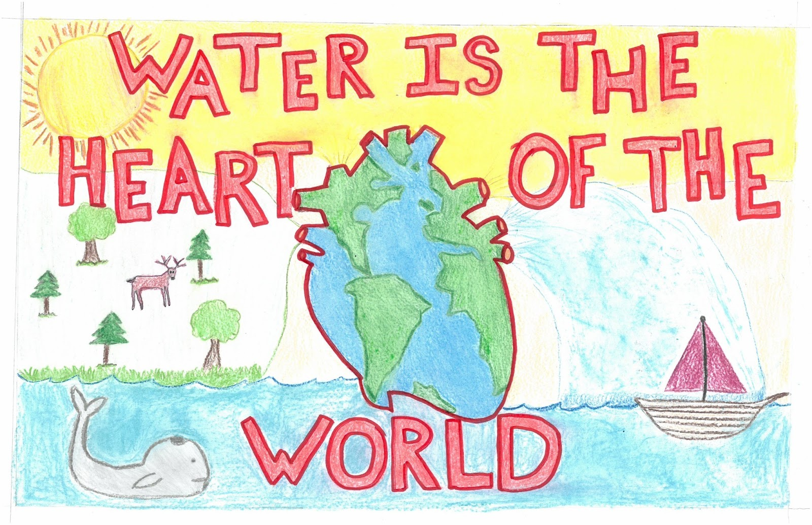 Posters on save water for class 7