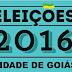 Resultado das eleições 2016 na Cidade de Goiás