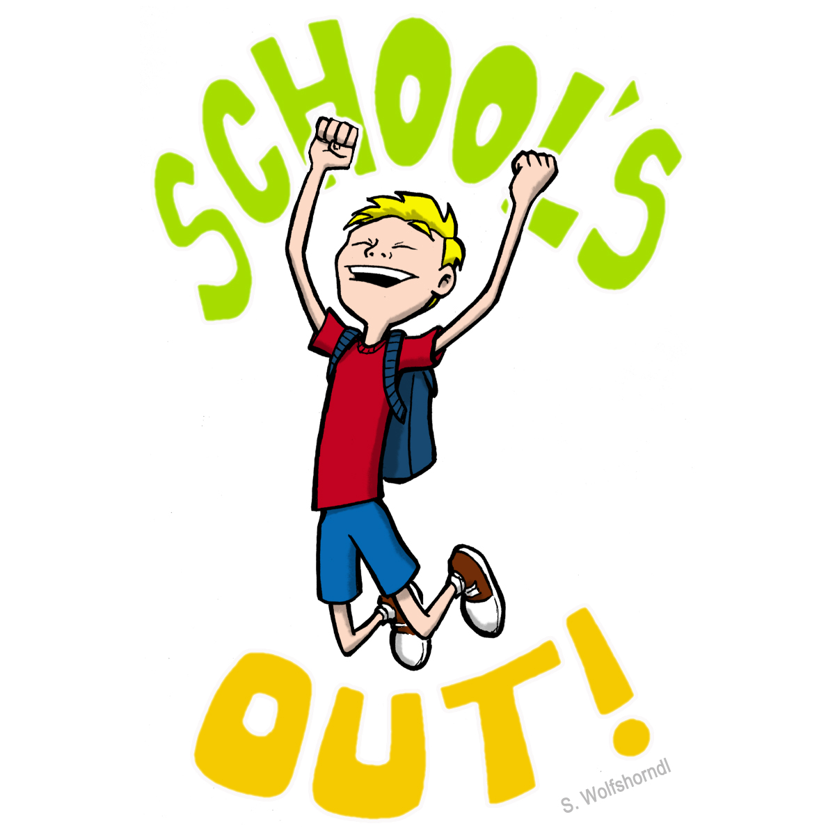 Schools Out For Summer Clipart