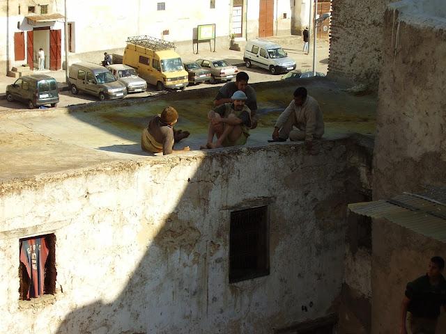 Trabajadores de la Curtiduria de Fez
