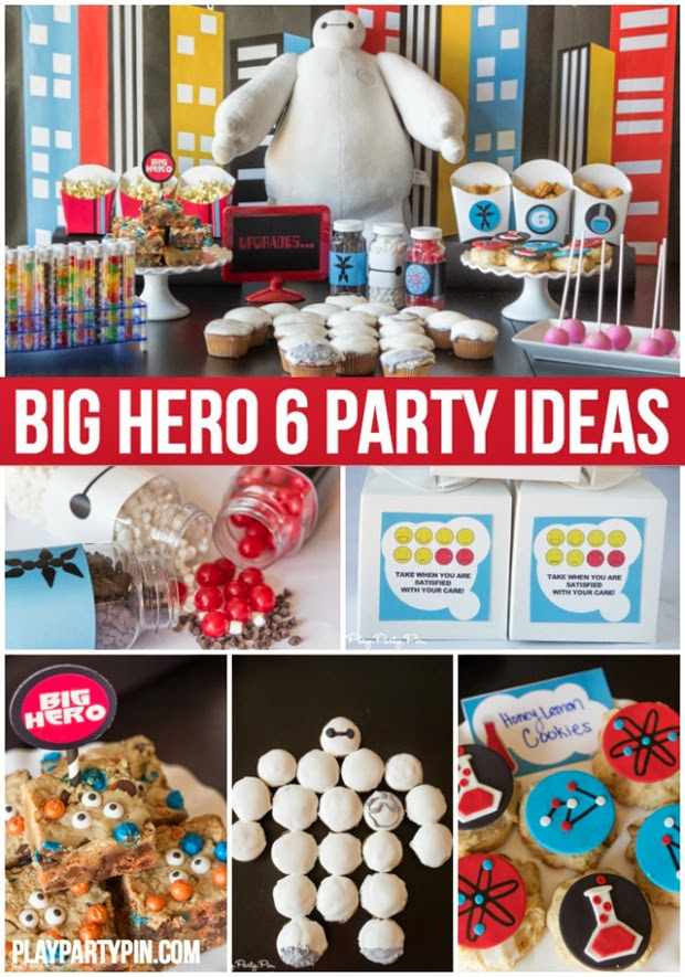 big hero 6 party ideas, games, food ideas, kids party, baymax