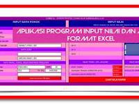 Aplikasi Program Input Nilai dan Analisis Format Excel
