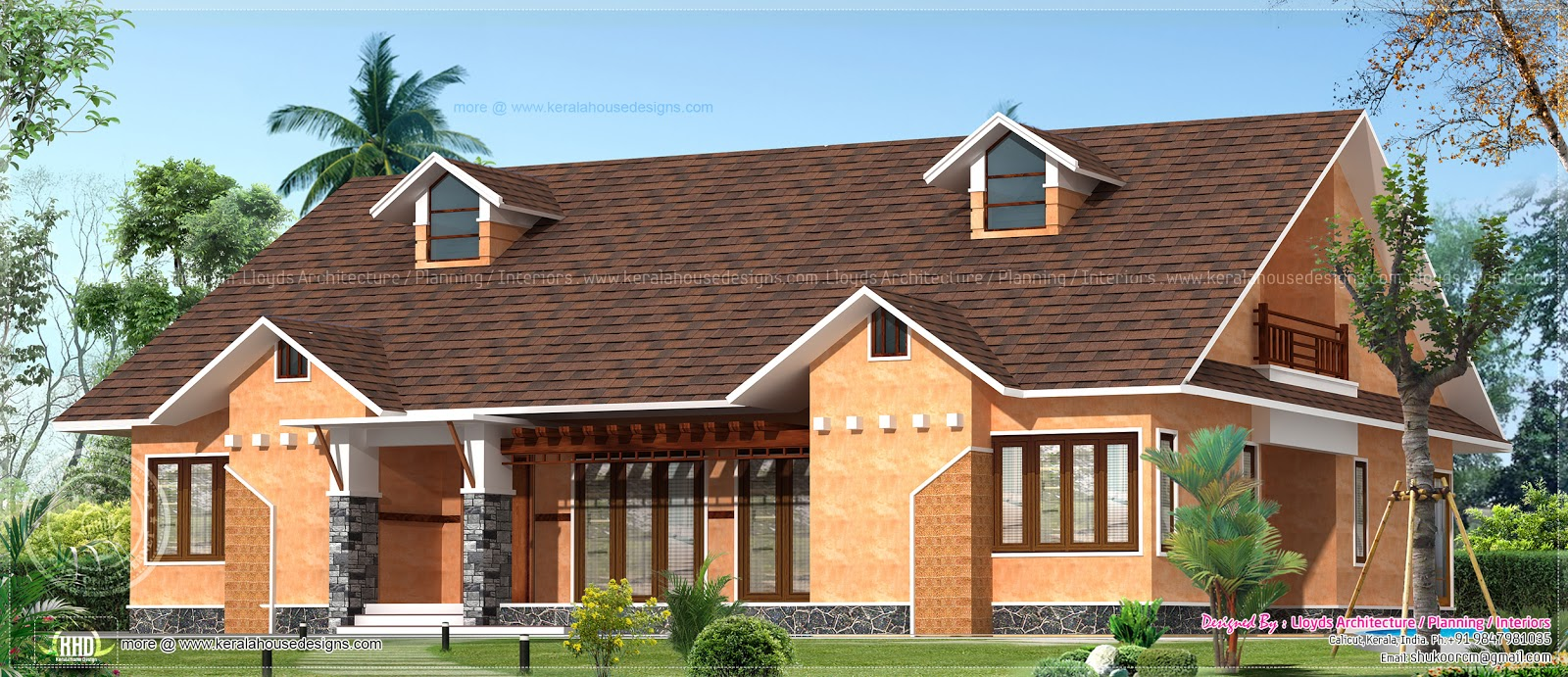 1775 Square Feet 3 Bedroom Mud House Kerala Home Design