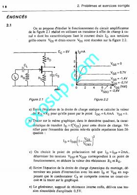 exercices solutions électronique analogique s5 SMP