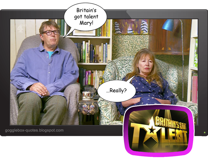 Gogglebox Quotes : Series 13 Episode 10 - Giles & Mary on 'Britain's