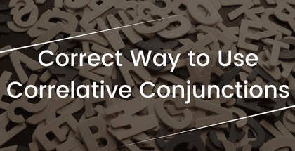 Correct Way to Use Correlative Conjunctions