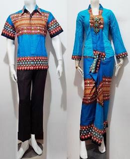 Baju Batik Kebaya Couple Rok Panjang