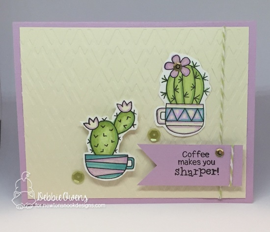 Coffee makes you sharper by Debbie features Cuppa Cactus by Newton's Nook Designs; #newtonsnoook