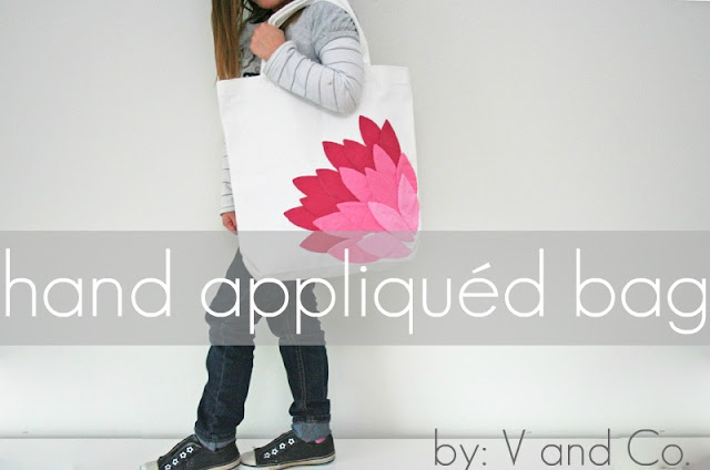 How to applique - make an adorable bag with this step by step tutorial!