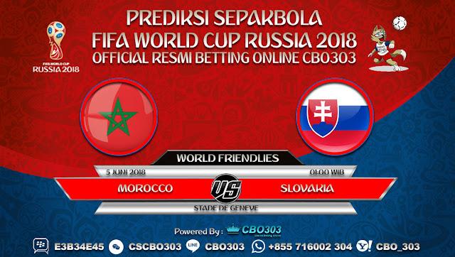 Prediksi Bola Morocco VS Slovakia 05 Juni 2018