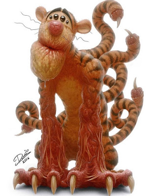 assustador desenho Tigre