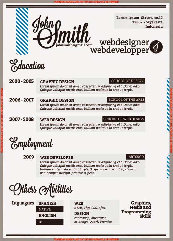 Free Creative Resume Template 13